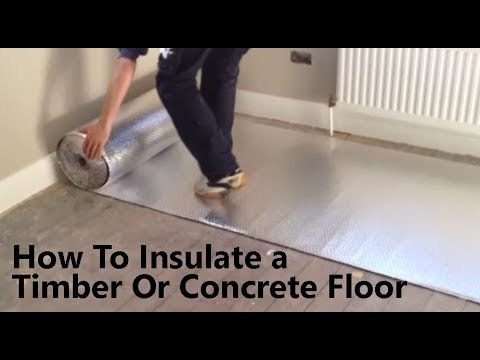 How to insulate a floor to prevent cold from below with ecotec floorfoam