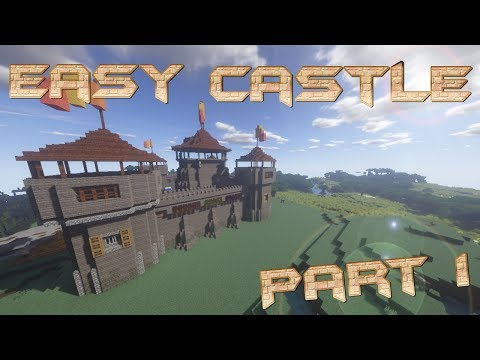 How to make a castle in minecraft | minecraft castle lets build | big castle tutorial part 1