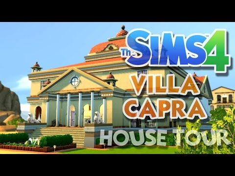 The sims 4 villa capra - an italian masterpiece- house tour and gameplay!