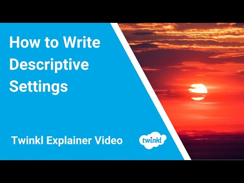 How to write a setting description in creative writing