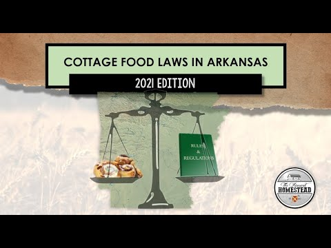 Cottage food laws in arkansas   2021 edition