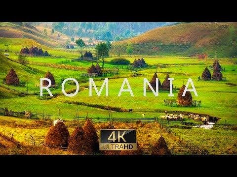 Romania nature in 4k uhd drone film + relaxing piano music for stress relief, sleep, spa, yoga, cafe
