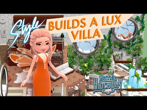 Building a lux villa with style on hotel hideaway!