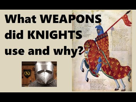 What weapons did medieval knights use and why?