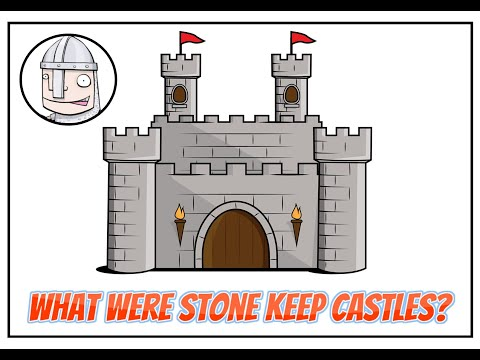 What were stone keep castles?