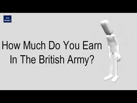 How much do you earn in the british army?
