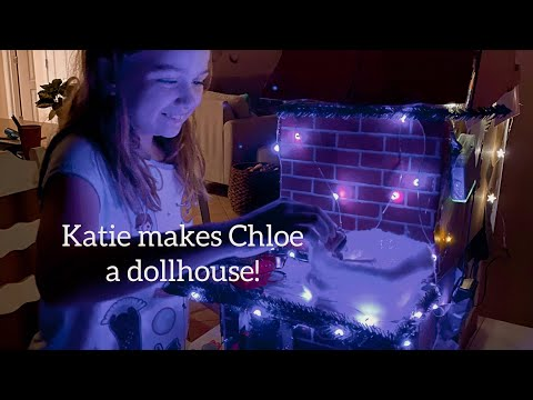 Katie makes a christmas cottage for chloe!