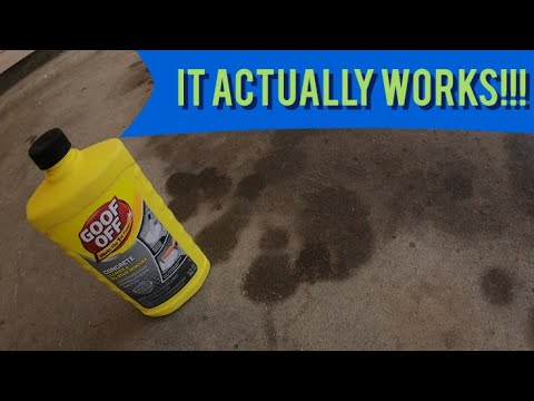 How to remove big oil stains from concrete with one product//it actually works!