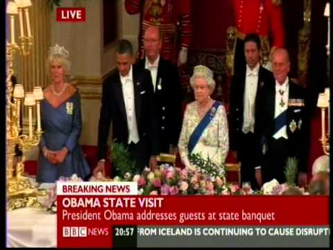 Queen humiliates president obama at buckingham palace by refusing toast - may 24 2011