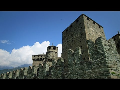 Fénis castle, aosta, travel in northern italy