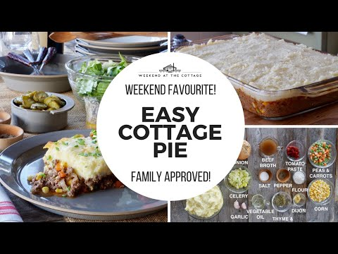 Easy cottage pie recipe - easy and delicious!