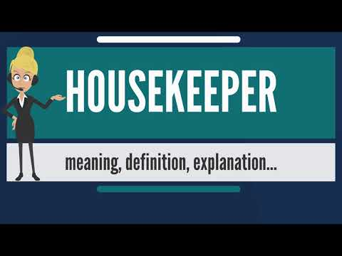What is housekeeper? what does housekeeper mean? housekeeper meaning, definition & explanation