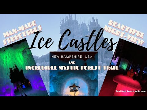 Beautiful ice castles   mystic forest trail   g.o.t   new hampshire, usa