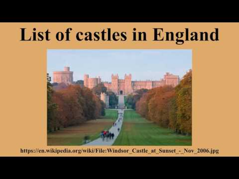List of castles in england