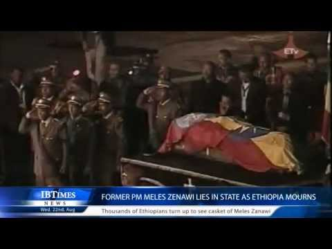 Former pm meles zenawi lies in state as ethiopia mourns