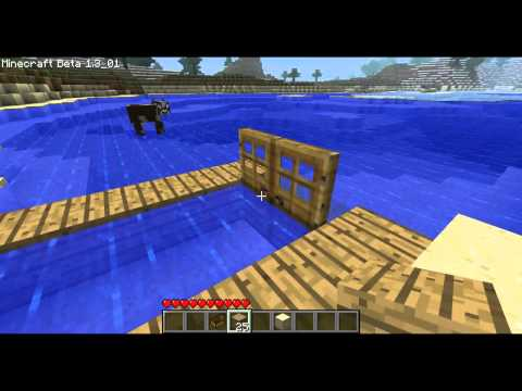 Minecraft how to make a dock in minecraft and not break your boat