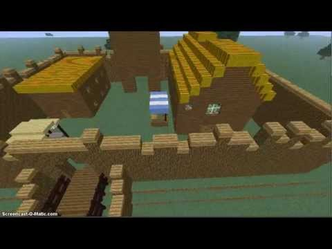 Motte and bailey castle - minecraft