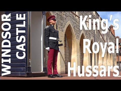 Windsor castle reopens to the public or the first time since lockdown - king's royal hussars