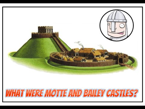 What were motte and bailey castles?