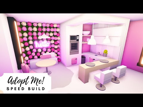 Castle home pink aesthetic speed build 🌺 roblox adopt me!