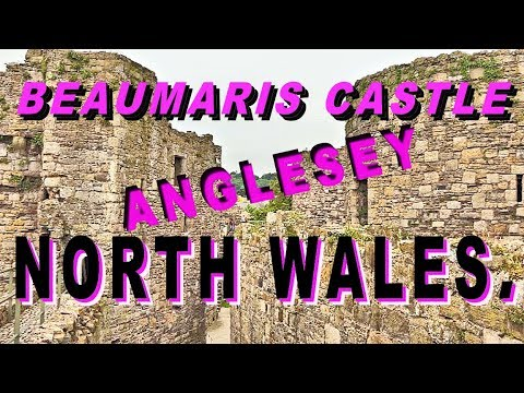 Beaumaris castle. anglesey. north wales. august 2017.