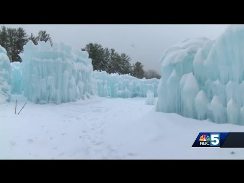 Final preparations underway before ice castles open friday