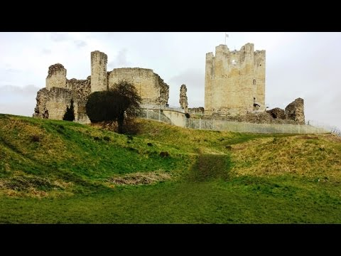 Conisbrough castle, a medieval fortification. south yorkshire, uk