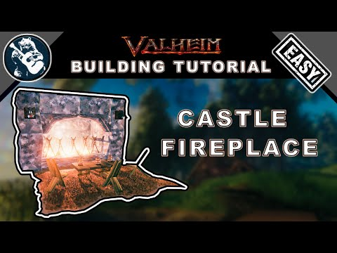 How to build a fireplace with chimney for a stone castle in valheim | base building design guide