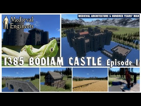 1385 the secrets of bodiam castle. episode 1 with medieval engineers