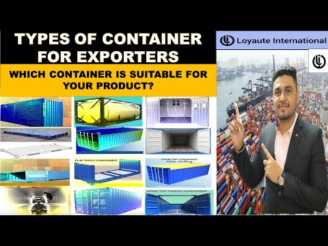 How many type of containers are there in import export/shipping/ships   #loyauteimportexports#export