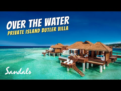 Over the water private island butler villa | sandals royal caribbean full walkthrough tour & review