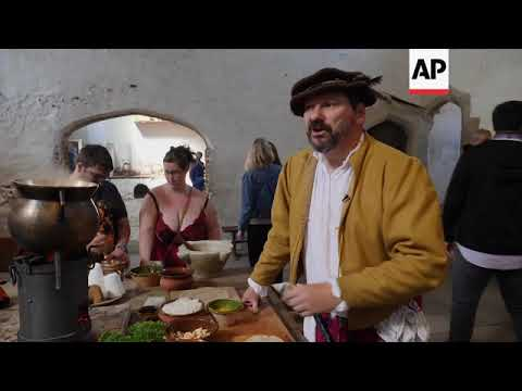 King henry viii's royal kitchens reopen for traditional roasts