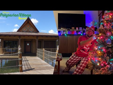 Disney's polynesian bungalows staycation on christmas eve 2020   using disney vacation club points