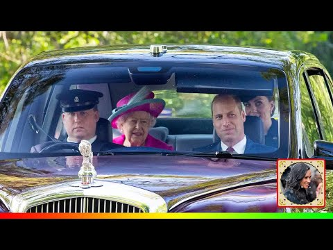 Queen drives to frogmore cottage visit harry and meghan to try and keep royals united
