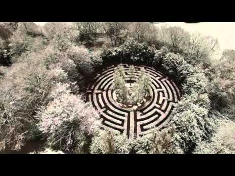 Crystal palace park in the snow london first snow drone