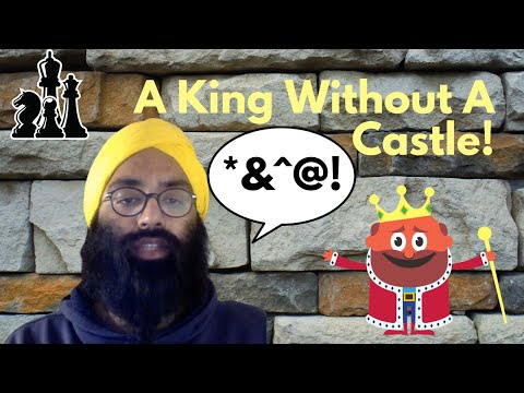 A king without a castle! // chess gameplay