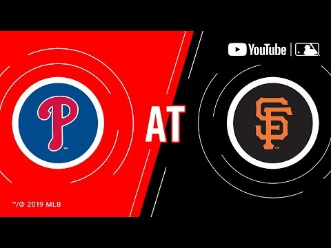 Phillies at giants 8/8/19 | mlb game of the week live on youtube