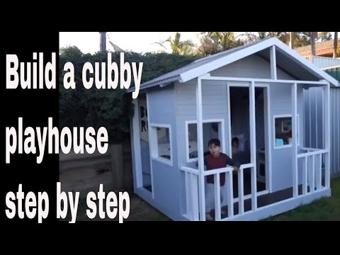 How to build a kids playhouse
