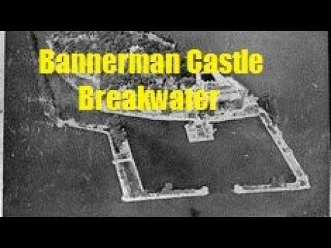 Building the island breakwater around bannerman castle in the hudson river north of new york city