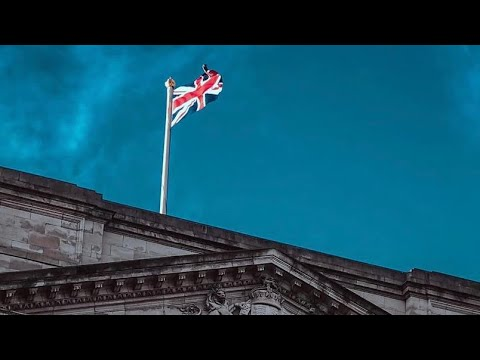 Ending national mourning period for prince philip, flags raised above buckingham palace.