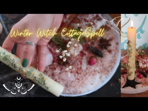 Winter witch cottage spell