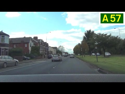 A57 hyde road, east manchester - westbound front view (part 1)