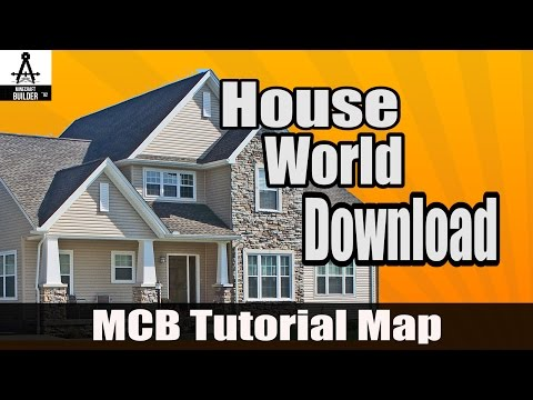 A lot of minecraft houses: world download