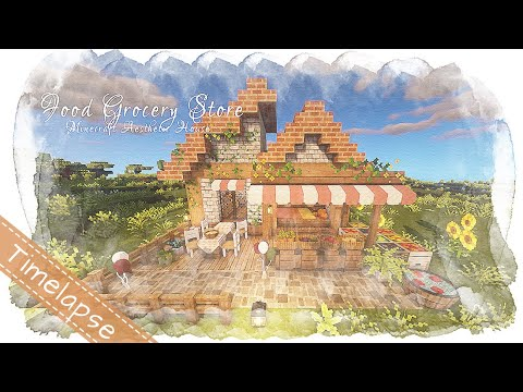 Minecraft house: food grocery store | cottagecore and chill | cit resource packs