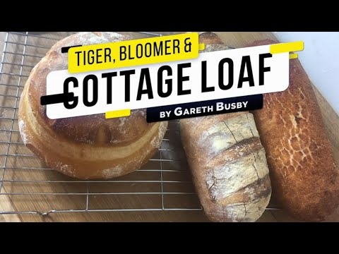 Tiger bread, cottage cob & a traditional bloomer - how to make multiple breads with one dough