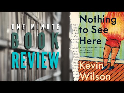 One minute book review - nothing to see here by kevin wilson