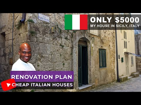 Cheap houses in italy | my tiny house renovation plans | mussomeli sicily - ep 7