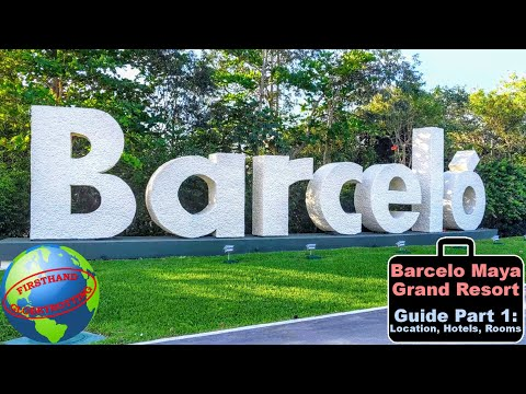 Guide to the barcelo maya grand resort - part 1 - location, hotel buildings, lobbies, and room tour.