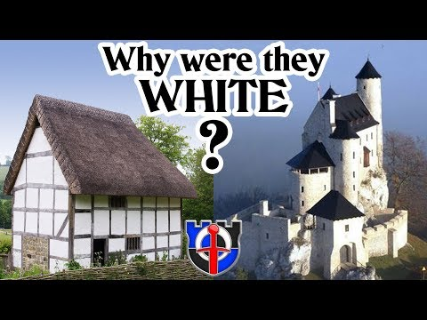 Why were medieval cottages and castle white?