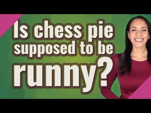 Is chess pie supposed to be runny?